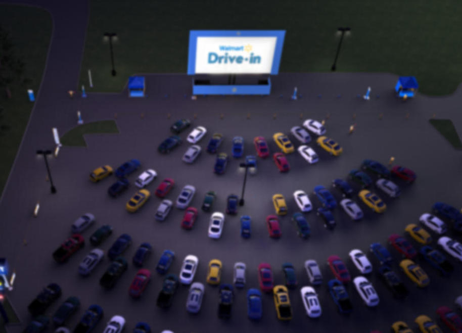 Walmart transforma estacionamento em Cinema
