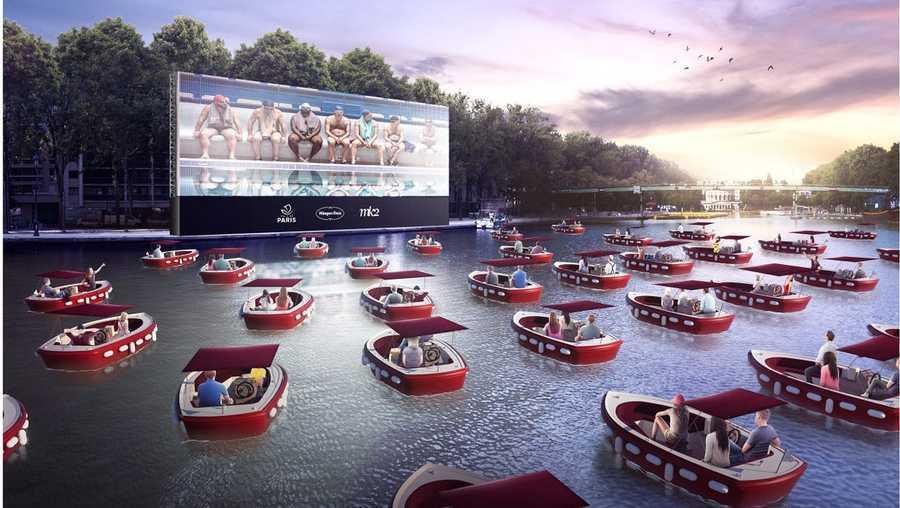 Cinema no barco em Orlando