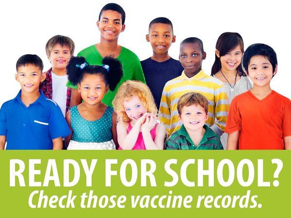 Vacinas para matricular as crianças na escola